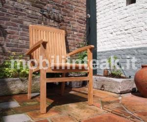 Sedia in teak impilabile da giardino_png