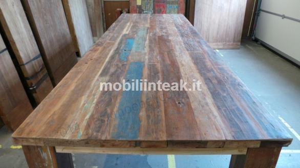 Mobili in teak tinteggiato - Mobili con legno riciclato ...